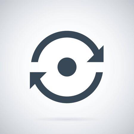 Reload vector icon. Arrow pictogram refresh rotation loop sign