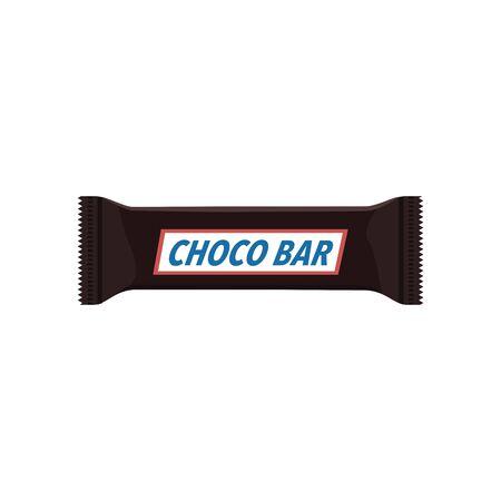 Chocolate bar. Packing. Template. polyethylene
