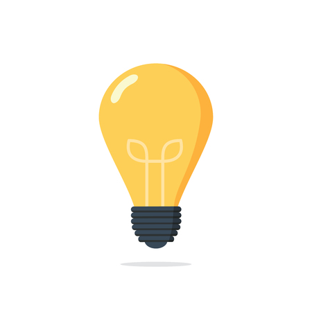 Bulb light education icon. Lamp icon on white background. Vector illustration. Idea sign, solution or thinking concept. Trendy Flat style for graphic design