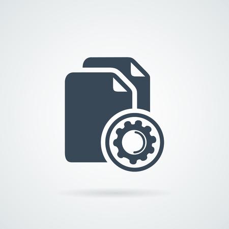 copy machine: Data process in progress. Concept of big data Illustration