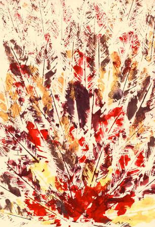 Leaves Print Autumn Handmade