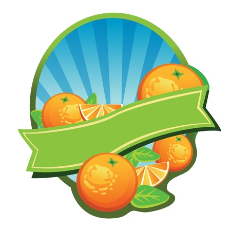 Label for some beverages made by orange, or can be used as logo  All elements are grouped and layered