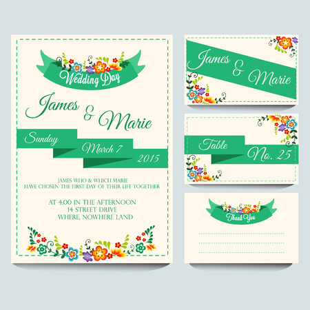 Green Invitation Pack