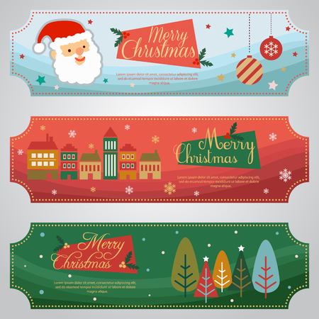 Flat Design Christmas Ticket