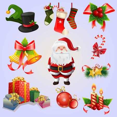 Christmas Item Set Illustration