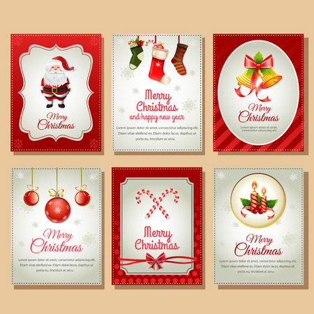 christmas candle: Christmas Card Collection Illustration