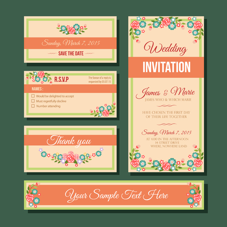 green coupon: wedding invitation template
