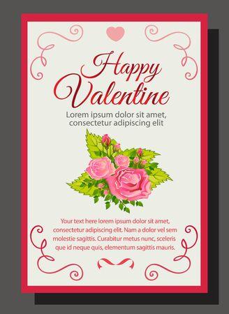 rose bouquet: pink valentine rose