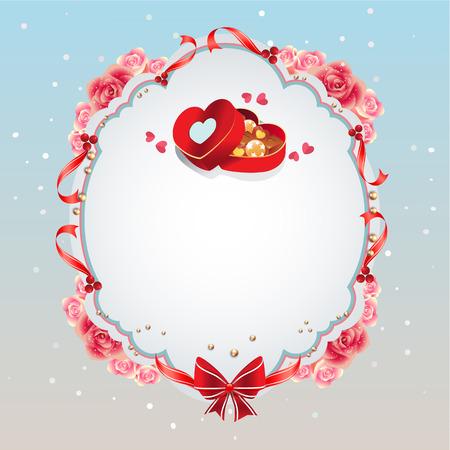tarjeta de San Valentín azul