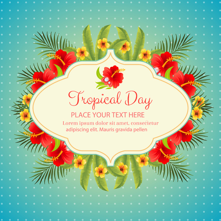 tropical: tropical day Illustration