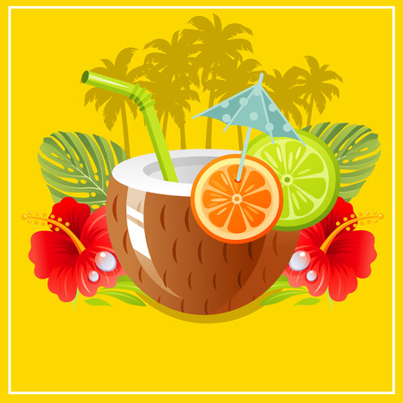 tropical: tropical paradise Illustration