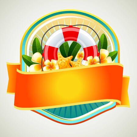 buoy: Summer Badge Buoy Illustration