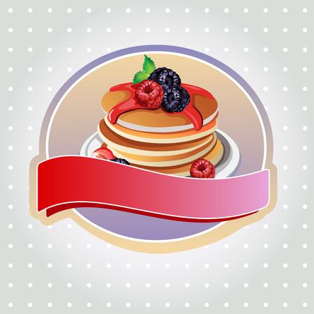 blueberry pie: blueberry pancake label