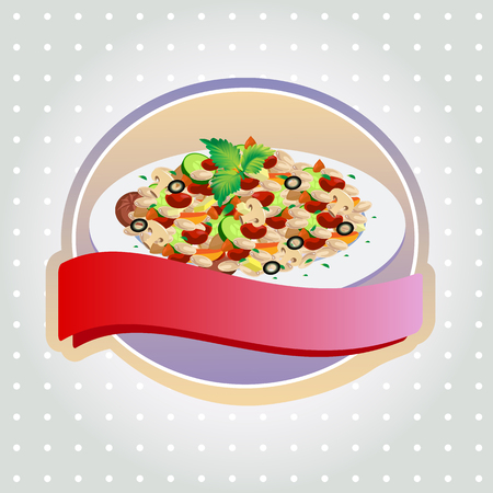 hearty: fried rice label