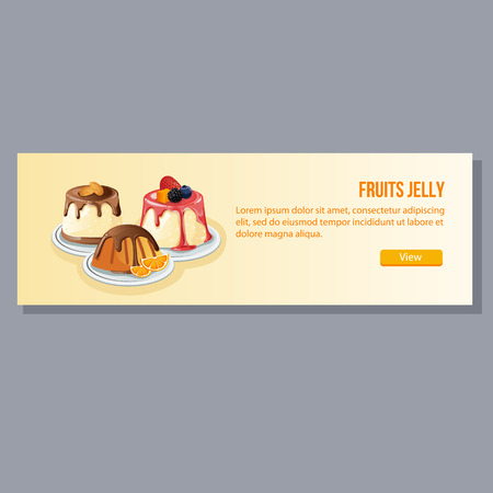 jelly: fruits jelly banner Illustration