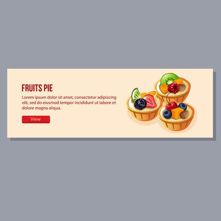 butternut squash: fruits pie banner