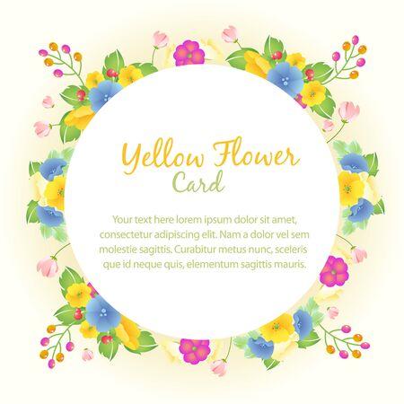 flower yellow card