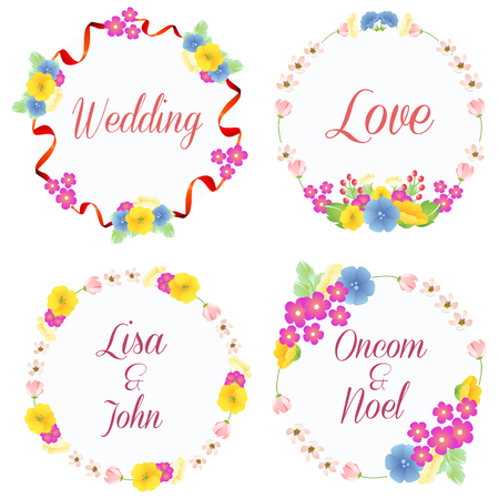 wedding wreath yellow Illustration
