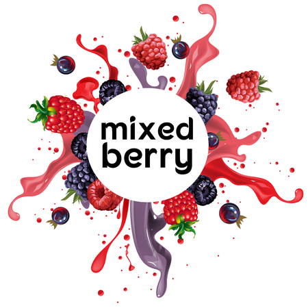 mixed berry punch drink