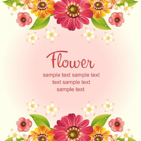 gerbera daisy: gerbera daisy card template