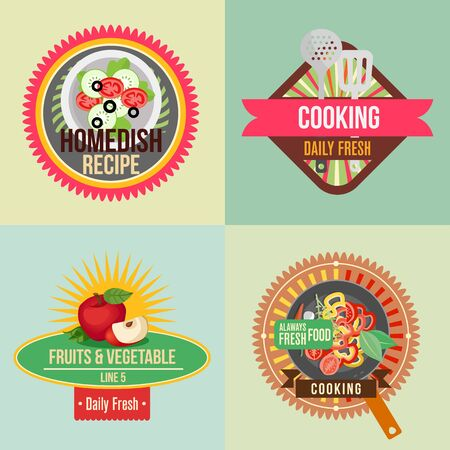 cooking sticker Illustration