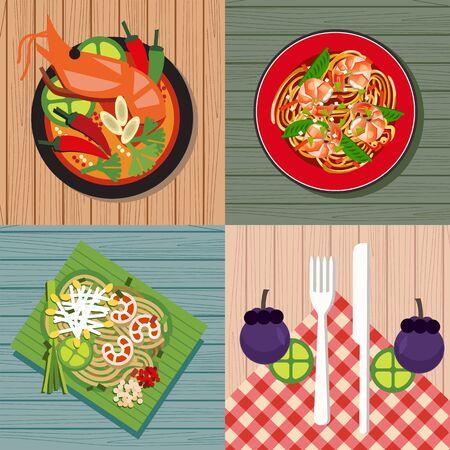 cuisine: thai cuisine Illustration