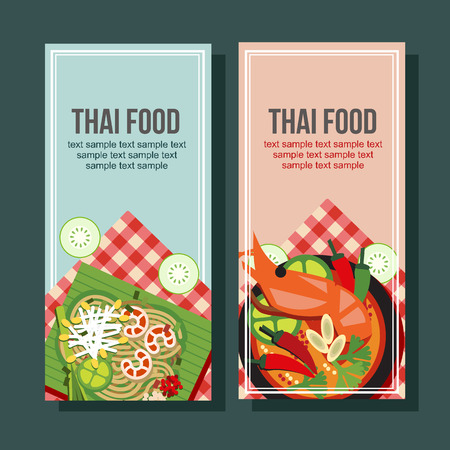 thai food vertical banner
