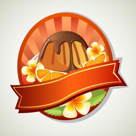 gelatin: orange chocolate jelly label