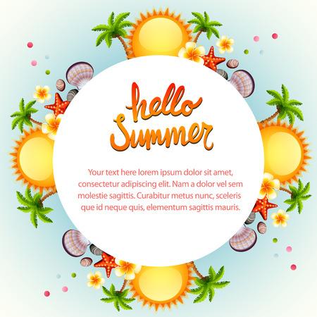 Cool hello summer sun.
