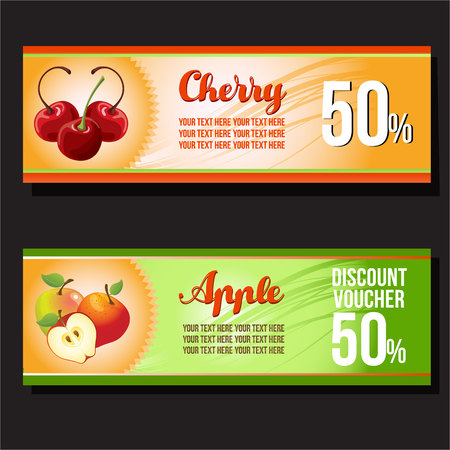 Cherry and apple banner