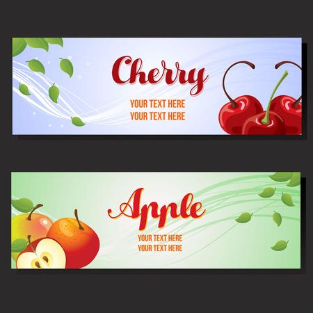cherry apple horizontal banner