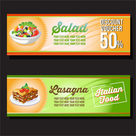 salad and lasagna horizontal banner
