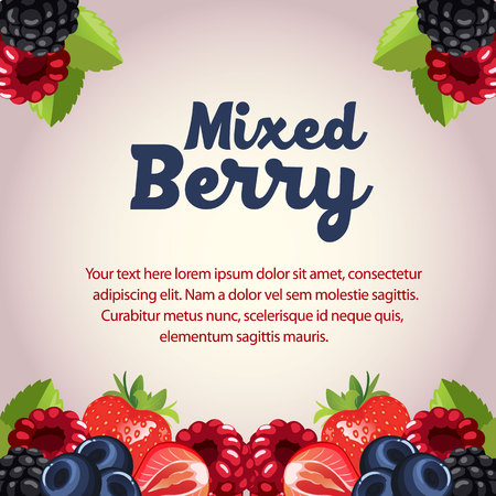mixed berry card