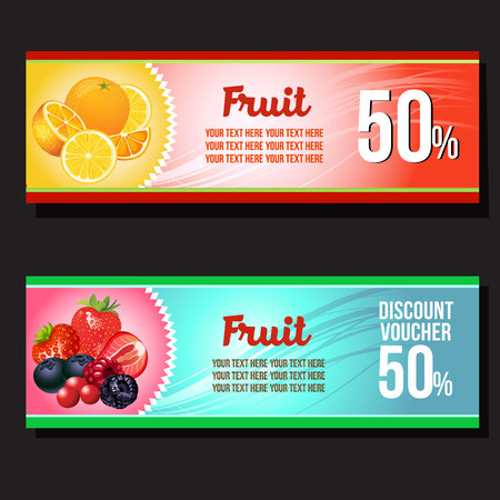 orange and strawberry horizontal banner