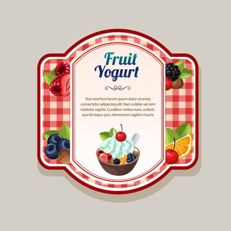Fruit yogurt label.