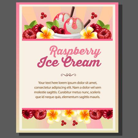 raspberry ice cream poster
