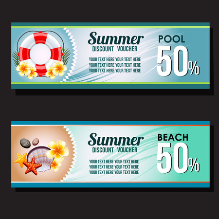 two discount voucher tropical theme