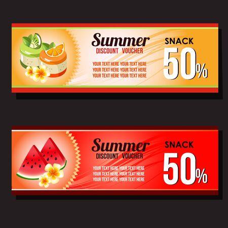 summer snack discount Illustration