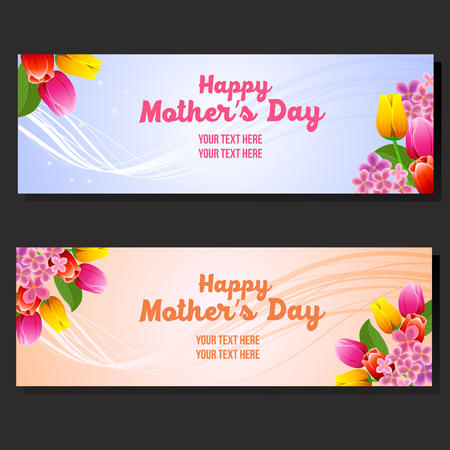 happy mothers day horizontal banner