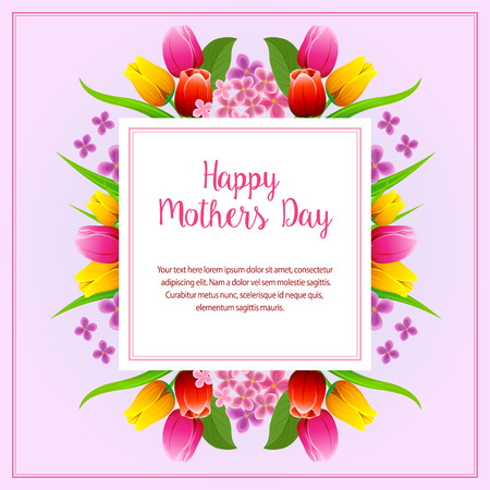 happy mothers day square Illustration