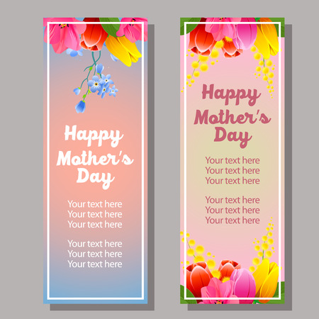 happy mothers day vertical banner