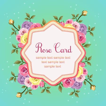 flat rose octagon card