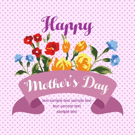 happy mothers day card purple