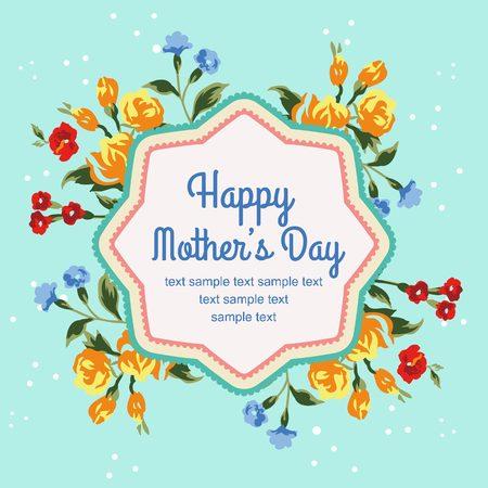 mothers day blue Illustration