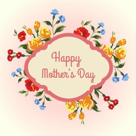 rose card mother day Illustration