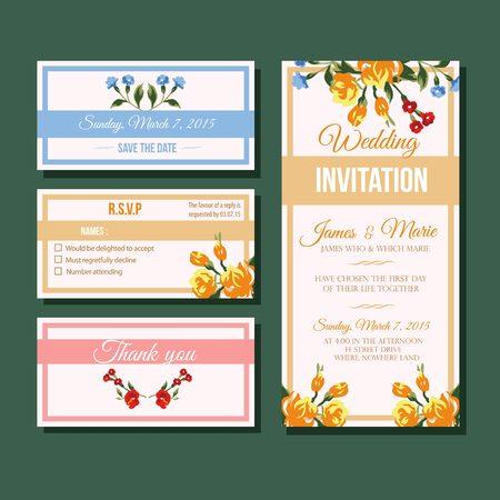 rose wedding invitation template