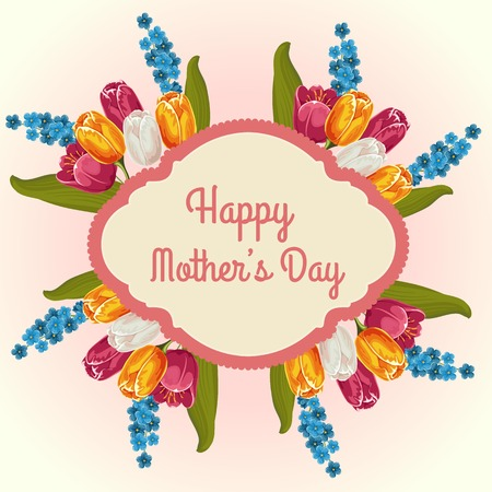 tulip card mother day