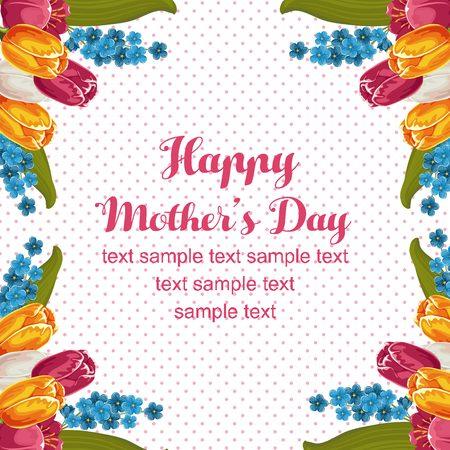 tulip mothers day rose Illustration