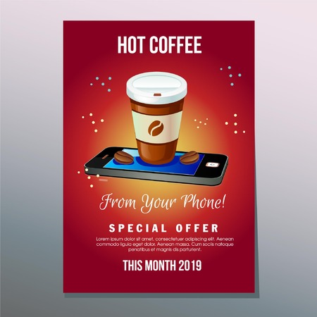 hot coffee promotional template
