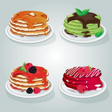 breakfast pancake set